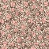 Художническая безшовная картина с розами Стоковая Фотография