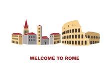 Художническая иллюстрация Рима Италии Стоковые Фотографии RF