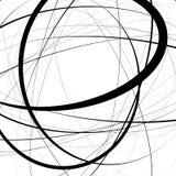 Художническая иллюстрация с напряжённое случайным, линии сложной формы Ge Стоковые Фотографии RF