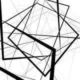 Художническая иллюстрация с напряжённое случайным, линии сложной формы Ge Стоковые Изображения