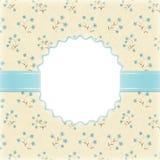 Художническая предпосылка с цветками акварели Стоковые Фото
