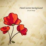 Художническая флористическая предпосылка вектора для вашего дизайна. Стоковое Изображение RF