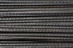 Художнические стальные пруты крупного плана, подкрепления на строительной площадке, предпосылке Стоковая Фотография RF