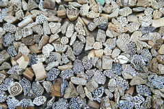 Художнические части прессформы вытравленные в камне показанном около озера Gadisar Стоковое Изображение RF