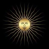 художнический вектор символа солнца иллюстрации Стоковые Фотографии RF