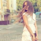 Художнический портрет девушки студента Стоковые Фото