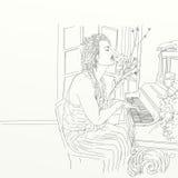 Художнический silkscreen Джонни Депп актер, директор, музыкант иллюстрация вектора