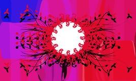 Художническое красочное флористическое украшение на предпосылке бесплатная иллюстрация