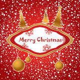 художническое рождество карточки Стоковая Фотография RF
