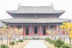 ХЭНАНЬ, КИТАЙ - 17-ое ноября 2015: Академия Yingtian на Shangqiu старом стоковые фотографии rf