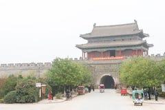 ХЭНАНЬ, КИТАЙ - 17-ое ноября 2015: Древний город Shangqiu известное hist стоковые изображения rf