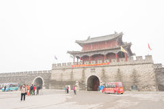 ХЭНАНЬ, КИТАЙ - 17-ое ноября 2015: Древний город Shangqiu известное hist стоковая фотография