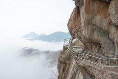 ХЭНАНЬ, КИТАЙ - 10-ое ноября 2015: Путь планки Sanhuang в Sanhuangzhai s Стоковое фото RF