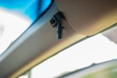 Хэндс-фри с телефоном в автомобиле Стоковые Фото