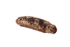 Хлебец сезама рож взбрызнутого пресным хлебом изолированного на белизне Стоковые Изображения