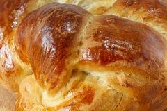 Хлебец сладостного заплетенного конца хлеба вверх стоковые фото