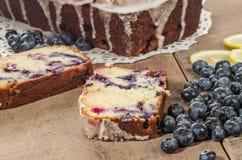 Хлебец торта кофе голубики с голубиками Стоковое Фото