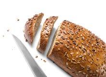 Хлебец хлеба и ножа Wholemeal Стоковое Изображение RF
