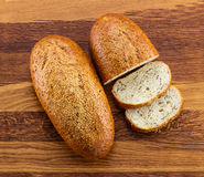 Хлебец wholegrain белого хлеба и кусков Стоковые Фотографии RF