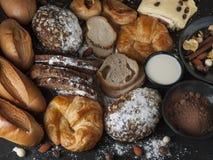Хлебопекарня вводя здоровую еду в моду стоковые изображения rf