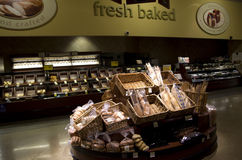 Хлебопекарня в супермаркете Стоковое Изображение