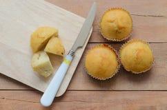 Хлебопекарня десерта торта чашки банана сладостная Стоковая Фотография
