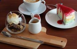 Хлебопекарня и кофе Время десерта Стоковая Фотография