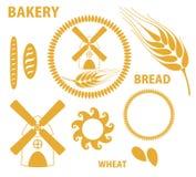 Хлебопекарня. Хлеб. Пшеница. Стоковые Фото