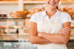 хлебопек счастливый стоковые фотографии rf