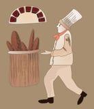 Хлебопек иллюстрация вектора