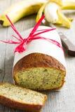 Хлеб банана с соусом карамельки Стоковые Фото