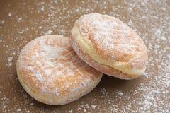 Хлеб, ванильная завалка, заполненная cream слойка Стоковые Изображения RF