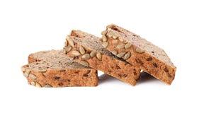 Хлеб всей пшеницы изолированный на белой предпосылке стоковые изображения rf