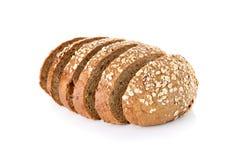 Хлеб всей пшеницы изолированный на белой предпосылке стоковое фото rf