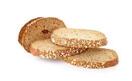 Хлеб всей пшеницы изолированный на белой предпосылке стоковая фотография rf