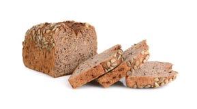 Хлеб всей пшеницы изолированный на белой предпосылке стоковые фото