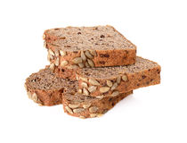 Хлеб всей пшеницы изолированный на белой предпосылке Стоковое Фото