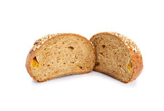 Хлеб всей пшеницы изолированный на белой предпосылке стоковое изображение rf