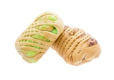Хлеб заполненный с заварным кремом Стоковое Изображение
