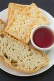 Хлеб и здравицы с вареньем Стоковая Фотография RF