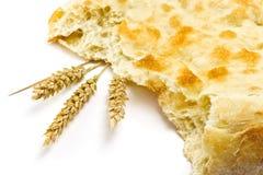 Хлеб и колоски пита Стоковая Фотография