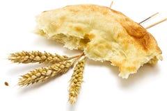 Хлеб и колоски пита Стоковые Фото