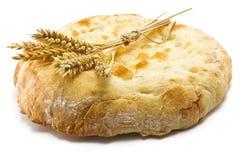 Хлеб и колоски пита Стоковое Изображение