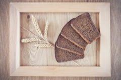 Хлеб и колоски Стоковое Фото