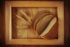 Хлеб и колоски Стоковая Фотография