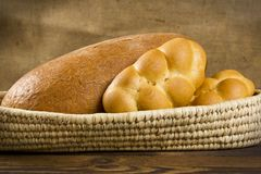 Хлеб и плюшки Стоковая Фотография