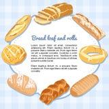 Хлеб и хлебцы формируя рамку Стоковое Изображение RF