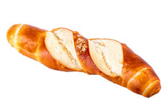 Хлеб крена отзола плюшки типичный немецкий изолированный на белизне Стоковое Изображение