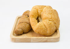 Хлеб круассана, круассан Франции изолированный на белой предпосылке Стоковые Изображения