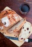 Хлеб клюквы и грецкого ореха Стоковые Изображения RF